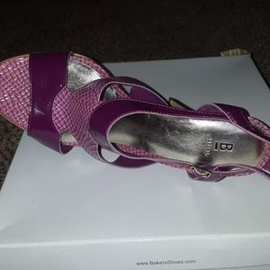 Bakers Shoes - Two Tone Strap Heel